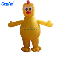 AC057 BENAO 2.3m Moving cartoon type inflatable chicken walking costumes for Kids/Advertising Inflatable Rooster Shape for sale