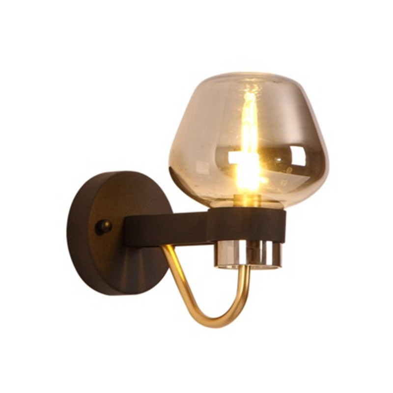 Nordic Loft Style Industrial Vintage Wall Light Fixtures Iron Glass Antique Lamp LED Bedside Wall Sconce Lighting Lamparas 110v 220v loft nordic antique industrial double wall lamp metal lighting home decor library wall sconce 2 e27 bulbs