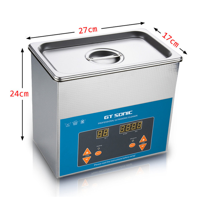 GT SONIC VGT-1730QTD 3L Digital Ultrasonic Cleaner Cleaning Machine Bath For Jewelry Watch Glasses Circuit Board