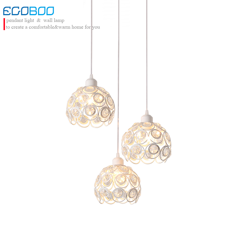 Modern crystal black/white led ceiling lamp with E27 Socket fashionable iron restaurant balcony corridor hall lamp pendant lamp noosion modern led ceiling lamp for bedroom room black and white color with crystal plafon techo iluminacion lustre de plafond