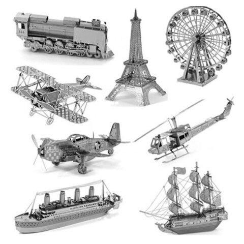 3D головоломки для детей памятником архитектуры 3D Нано металла DIY масштаб Модели Здания архитектура развивающие игрушки для малышей