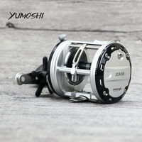 YUMOSHI JCA200/300/400/500 Cast Drum Wheel 12+1 Ball Bearings Bait Casting Fishing Reel Carretilhas De Pescar for Saltwater