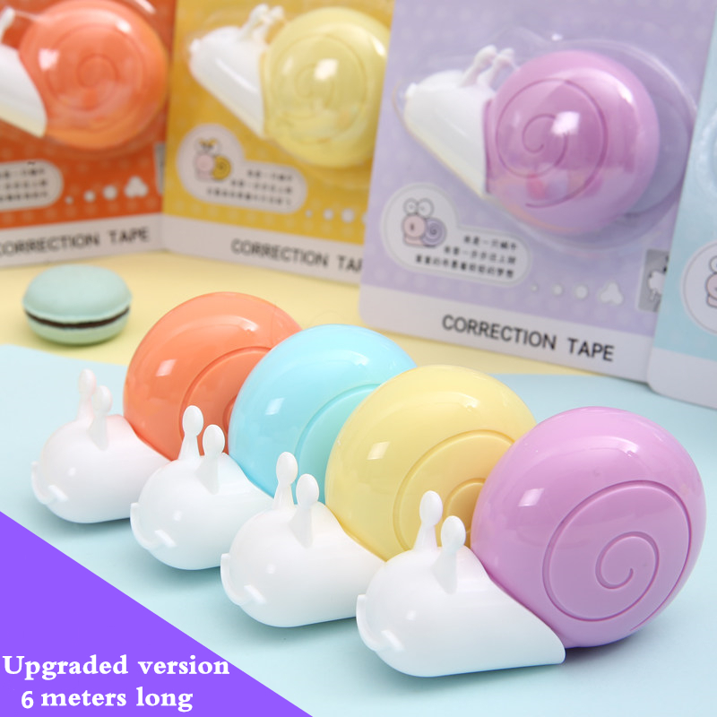 M&G Students  Small Snail Correction Tape Quick Fix  6 Meters Long Cute Little Animal Shapes Free Shipping