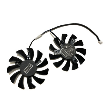 HA8010H12F-Z 75MM 2Pin GTX1050Ti GPU Cooler DUAL Fan For MSI Geforce GTX 1050Ti GTX-1050-Ti-4GT-OC Graphic Card Cooling image