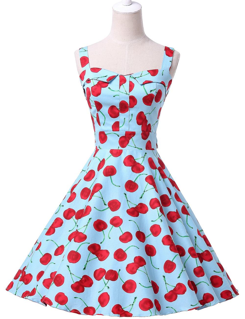 3ddae05bf Women Summer Dress 2017 plus size clothing Audrey hepburn Floral robe Retro  Swing Casual 50s Vintage Rockabilly Dresses VestidosUSD 47.62/piece