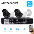 SAQICAM 4CH CCTV System 960P AHDH 1080N CCTV DVR 2PCS 1200TVL IR Waterproof Outdoor Security Camera Home Video Surveillance kit