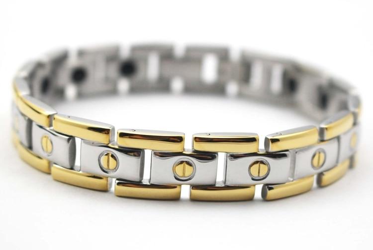 Trendy Gold Plating Bracelet Bangle Jewelry Mens Stainless Steel Bracelets Silver Chain