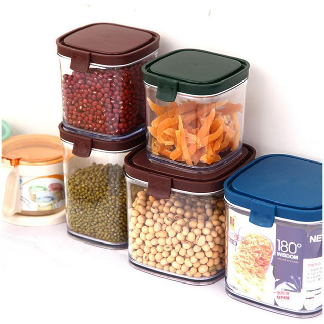 Plastic Food Storage Box Grain Container Kitchen Organize Tools Organizer Bo