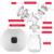 Extractores de leche materna posparto Potente succión Natural diseño Luminoso sacaleches eléctrico de conversión de frecuencia con Botella