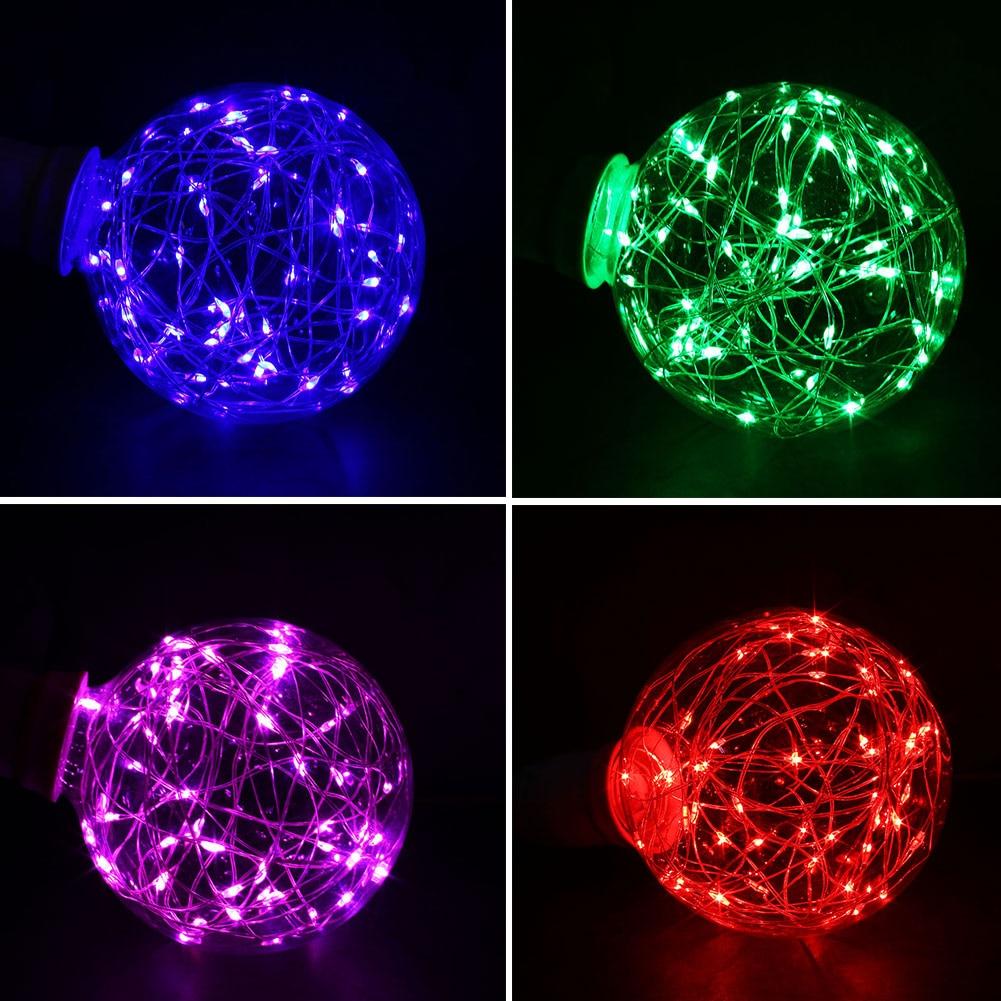 E27 LED Copper Wire Lamp Bulb Fairy Light Festivals Party Lighting 12*9*9cm