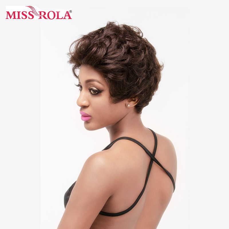 Bayan Rola kısa insan saçı Peruk Brezilyalı Bob Peruk Vücut Dalga Olmayan Remy Saç Peruk Siyah Kadınlar Için Makine Yapımı Ücretsiz parça #2 Renk