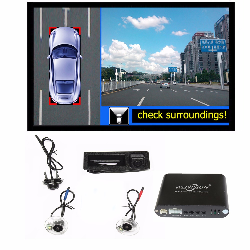 Weivision 360 Bird View Car Dvr Record System With 4hd