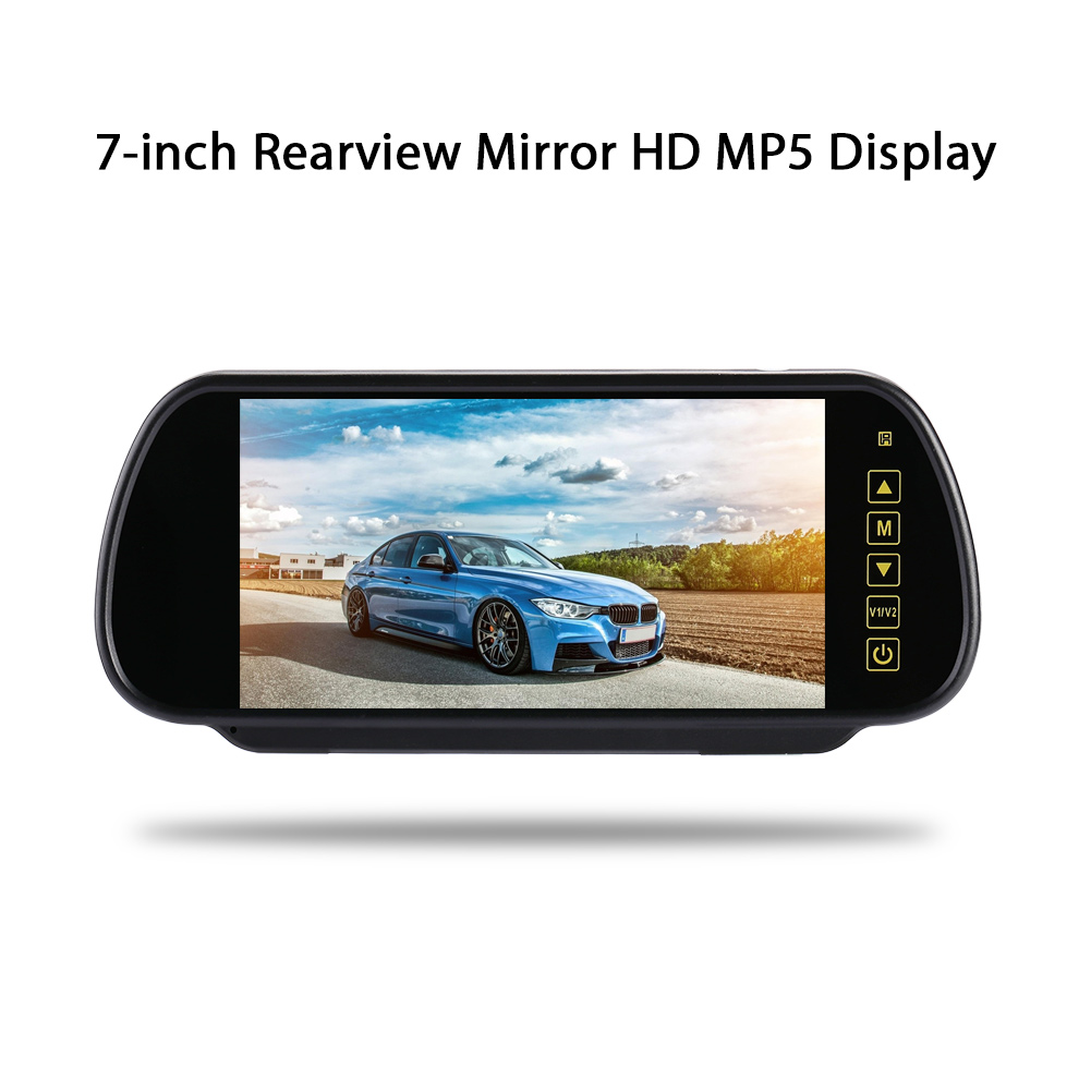 7 Inch TFT LCD 16:9 Touch Bluetooth Car Monitor Reverse Parking Backup Rearview Mirror Universal Car MP5/DVD/TV/MTV Screen7 Inch TFT LCD 16:9 Touch Bluetooth Car Monitor Reverse Parking Backup Rearview Mirror Universal Car MP5/DVD/TV/MTV Screen