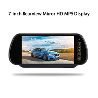7 Inch TFT LCD 16:9 Touch Bluetooth Car Monitor Reverse Parking Backup Rearview Mirror Universal Car MP5/DVD/TV/MTV Screen