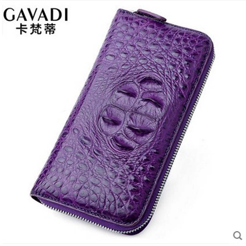 2018 kafandi new crocodile women purse crocodile leather lady long wallet stylish zipper women clutch bag yuanyu new crocodile wallet alligatorreal leather women bag real crocodile leather women purse women clutches