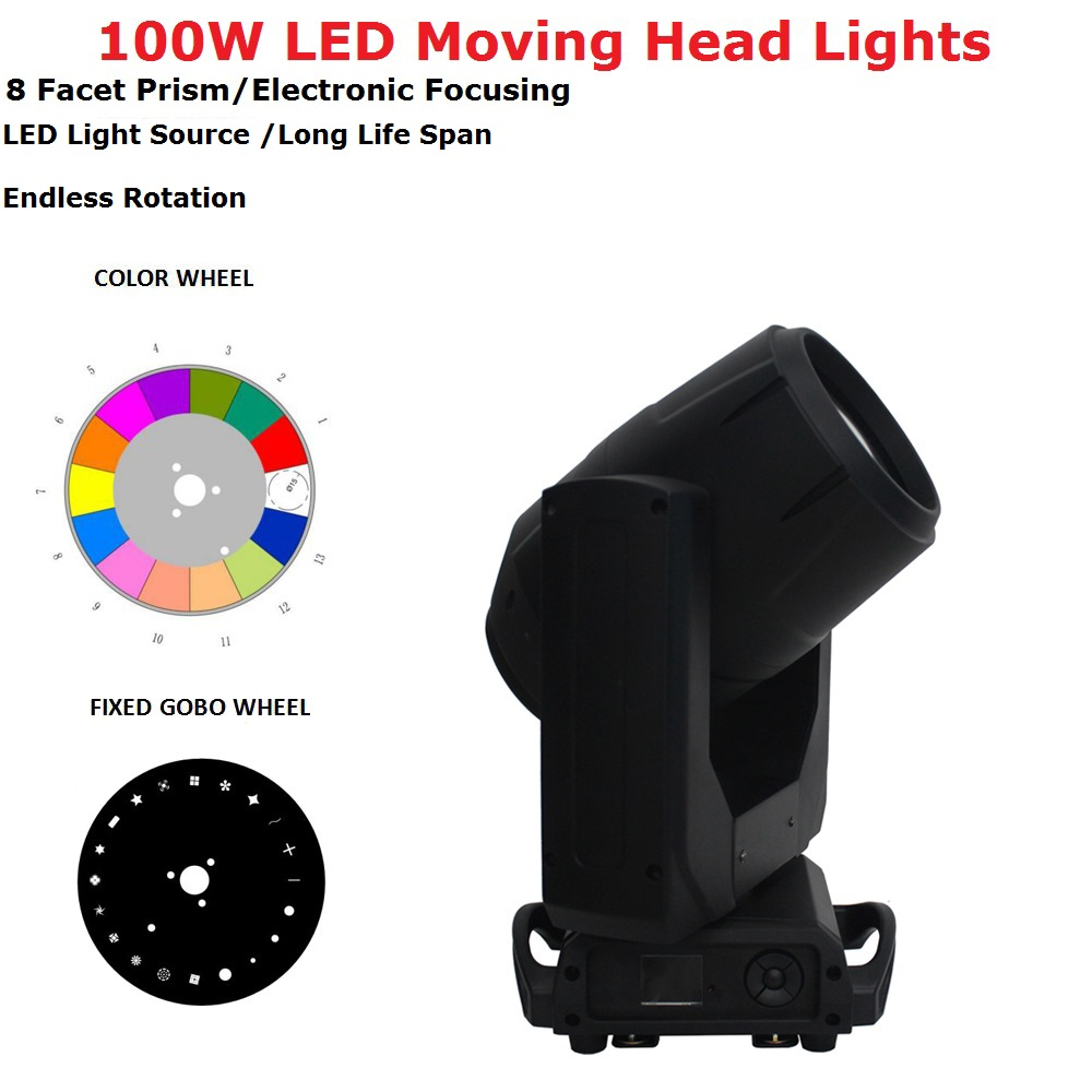 Lumières d'étape de LED de puissance élevée du bateau 100W libre lumières principales mobiles de faisceau DMX512 Contol LED de mise au point électronique Dj lumières d'effet d'étape