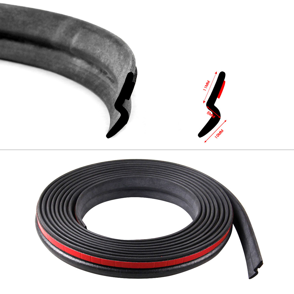 Z Type 3M Rubber Car Door Seal Strip Sound Insulation For The Cars Z Shape 2 3 4 Meters Auto Rubber Seals