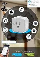 "Wifi חכם שקע חכם תקע Tuya חכם חיים אפליקציה ארה""ב תקע שלט רחוק Alexa Google בית מיני IFTTT תומך 2.4GHz רשת"