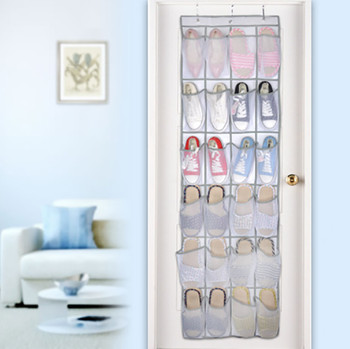24 Pocket Hanging Shoe Organizers for Door and Wall Bag for Assemble the Shoes in Provided Hooks