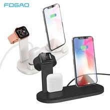 цены на FDGAO 3 in 1 Charging Dock Charger Stand For Apple Watch Series AirPods iPhone Xiaomi Samsung Universal Charging Base Station  в интернет-магазинах