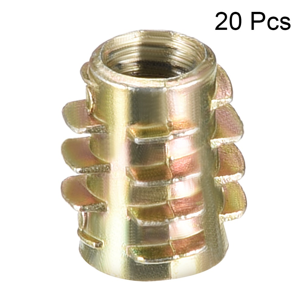 50PCS Zinc Alloy Furniture Hex Drive Nut Threaded Insert Wood Insert
