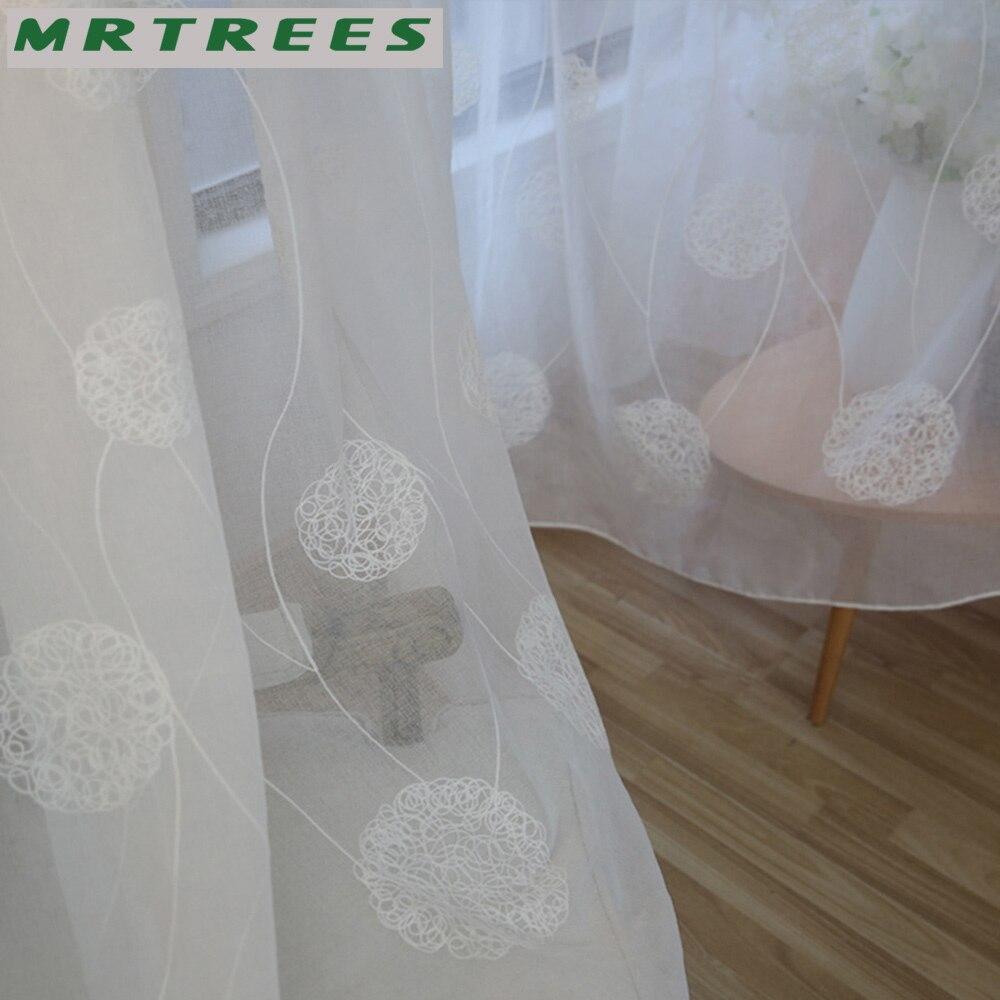 MRTREES Λευκά Κεντημένα Παράθυρα - Αρχική υφάσματα - Φωτογραφία 6