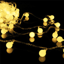 New Arrival 20m 200 Matte Ball Waterproof LED String Fairy Light Christmas Wedding Party Decor Lamp 220V 5 Colors