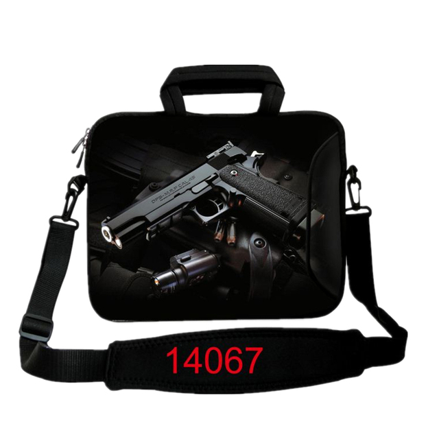 US $12 63 20% OFF New Gun Print Computer Bag Notebook Smart Cover For ipad  MacBook Sleeve Case 10 12 13 14 15 6 17 3 inch Laptop Bags & Cases-in