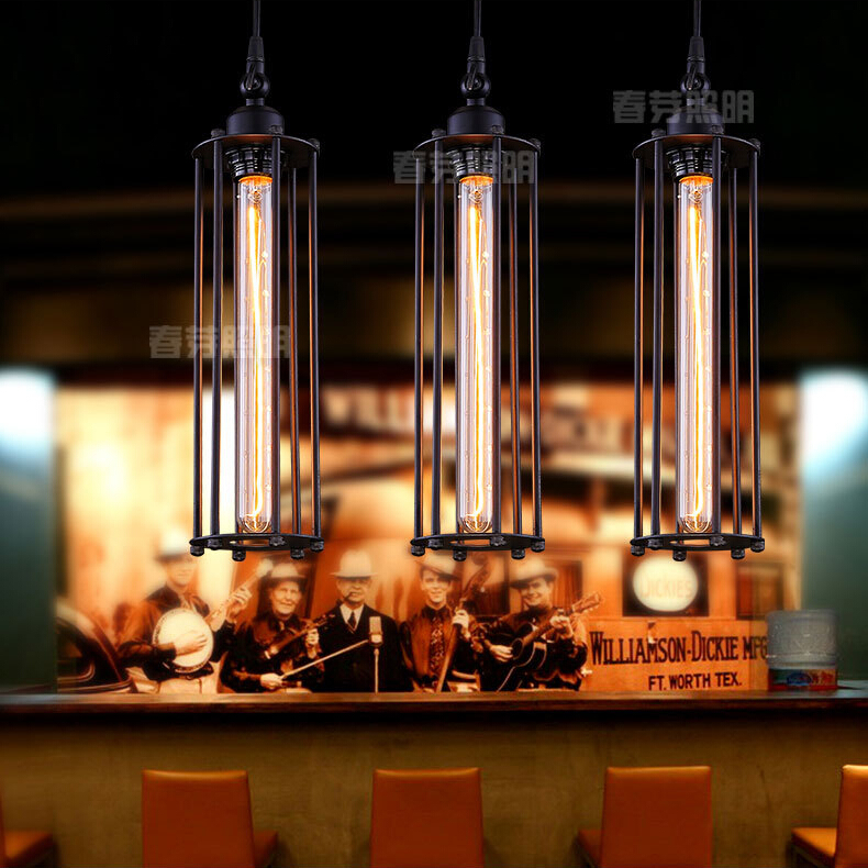 Nordic American country style retro punk style garden living room industry Bar Restaurant hotel chandelier lamp light lighting retro style living room lamp creative american country floor light solid wood floor lamp three foot
