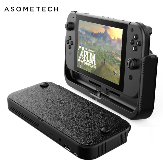 10000mAh Battery Charger Case For Nintend Switch Console External Battery For Nintendo Switch Power Bank Leather Case For NS