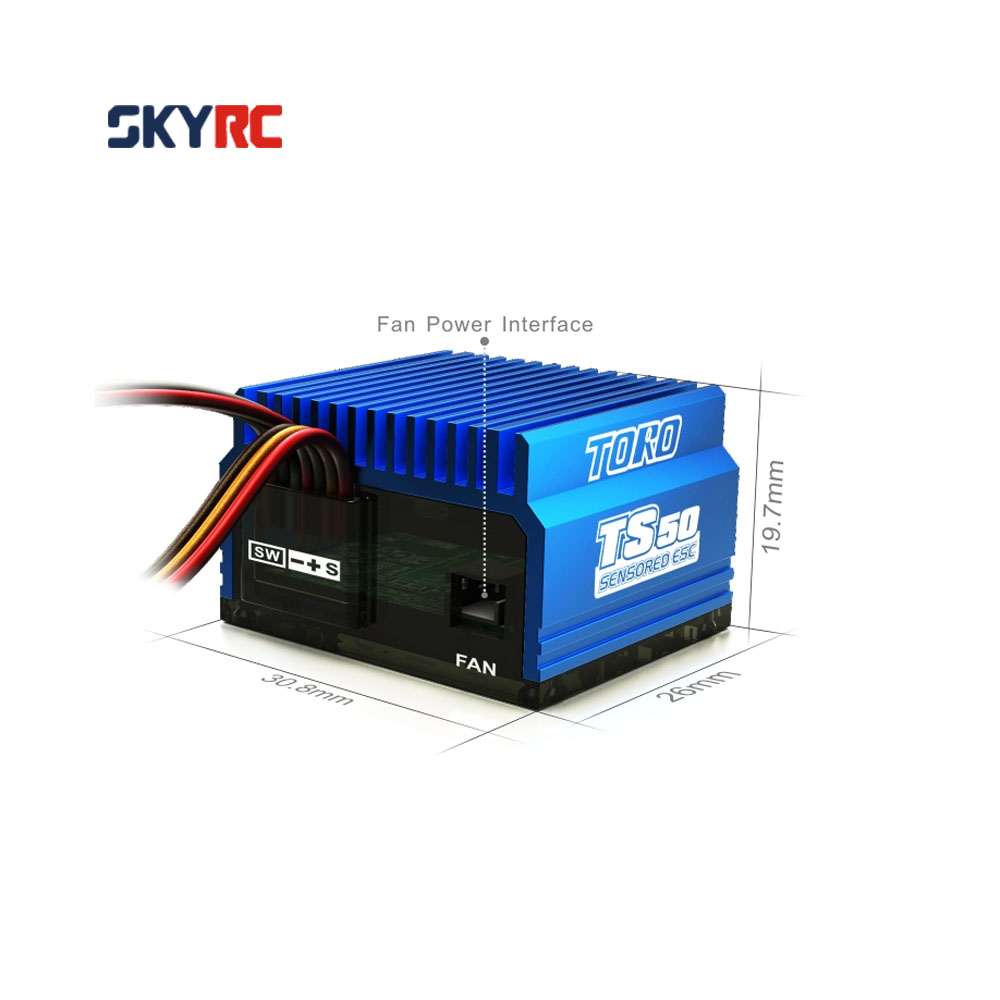 SkyRC TS50 50A 2S LiPo Battery Brushless Sensored/Sensorless ESC with 6V/2A BEC for 1/10 Buggy Touring Car вольтметр 50v 50a lifepo4 lipo tf01n
