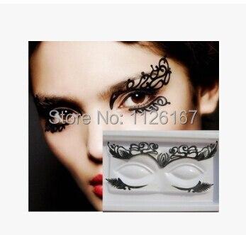 (Min order 5 $) heta försäljning mode papper skärning ögon klistermärken eyeliner rayal lyx högkvalitativa falska ögonfransar gratis frakt