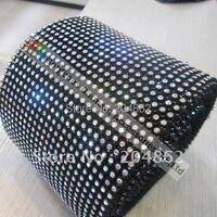 10 yards 24 righe ss12 3mm cristalline strass maglia di plastica costume applique trim nero bianco trasparente diy accessori