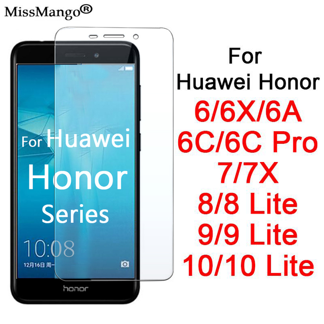 honor 7x tempered glass honer 10 8 9 lite light huawie on the for huawei hono 6 a6 x 6a 6x 6c pro protective glas protect hawei