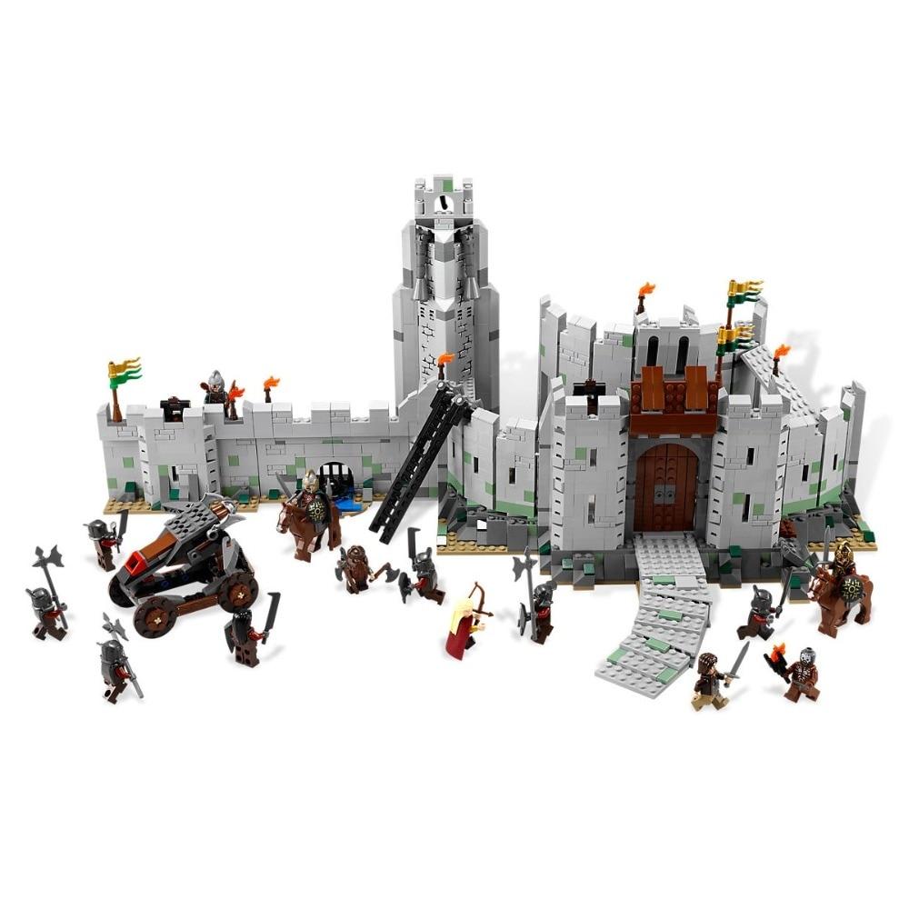1368Pcs The Battle of Helme''s Deep Compatible Legoe LofTR and Hobbit 9474 Building Blocks toys for Childrens Bricks Model battle for hell s island