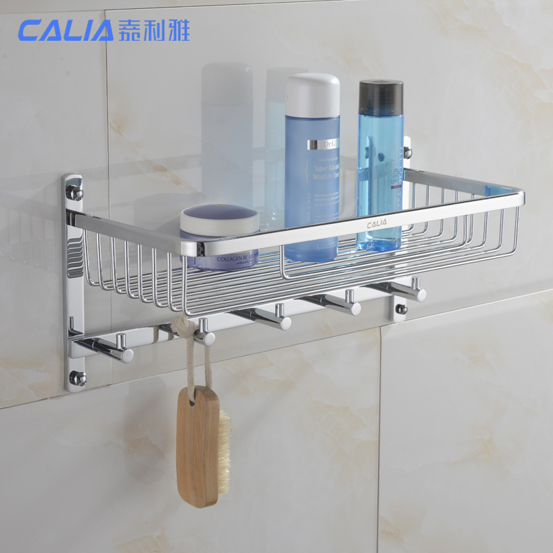 AUSWIND wall-mounted bathroom stainless steel storage rack with clothes hook ,double bathroom hanging basket, bathroom product ydl jd 937 stainless steel bathroom clothes hook silver page 8