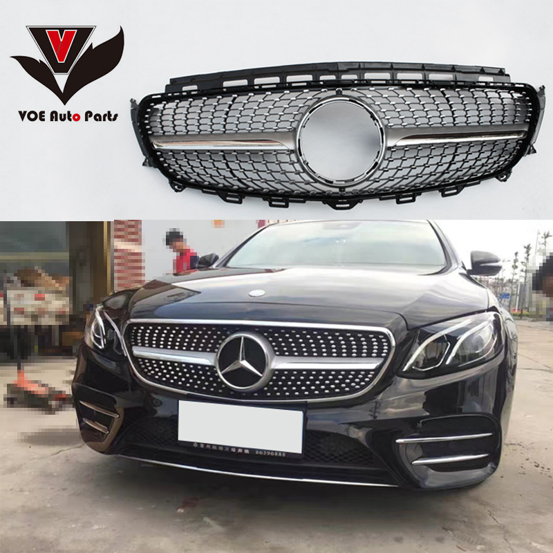 2016 2017 W213 Diamond Style Front Racing Grill Grille For