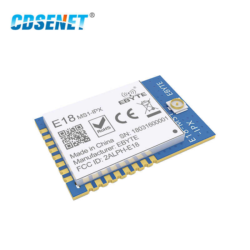 Zigbee cc2530 2.4 ghz módulo sem fio rf cdsenet E18-MS1-IPX 2.4 ghz transmissor sem fio e receptor de porta serial soc zigbee