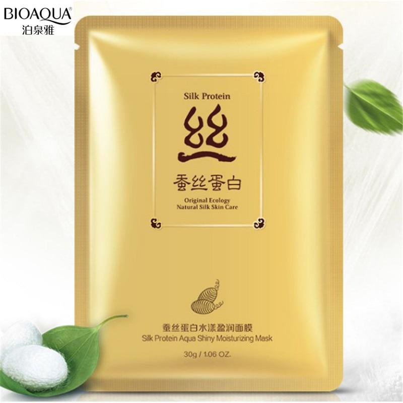BIOAQUA 1PC Hydrating Facial Mask Ance Treatment Silk Protein Aqua Shiny Moisturizing Oil Control Replenishment Face Mask