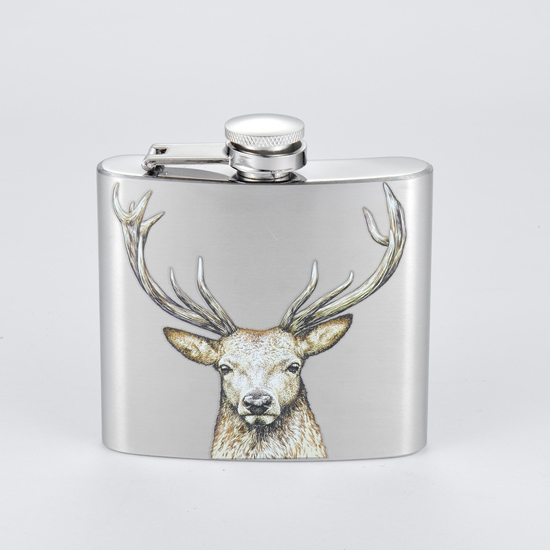 Farm Tractor Country Girl Pink Farming Stainless Steel 5oz Hip Drink Flask