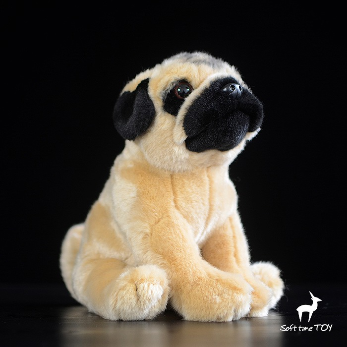 Kawaii  Stuffed Plush Animal Pug  Doll  Children'S Toys  Christmas Gift  Toy Simulation Dogs stuffed simulation animal snake anaconda boa plush toy about 280cm doll great gift free shipping w004