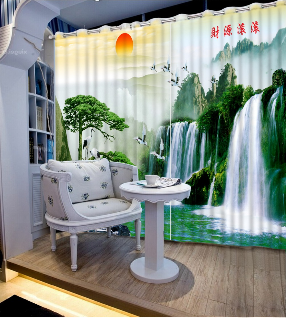 2017 Custom waterfall scenery Curtains for living room Bedding room 3D Curtains Home Decoration Factory diret sale CL-DLM8142017 Custom waterfall scenery Curtains for living room Bedding room 3D Curtains Home Decoration Factory diret sale CL-DLM814