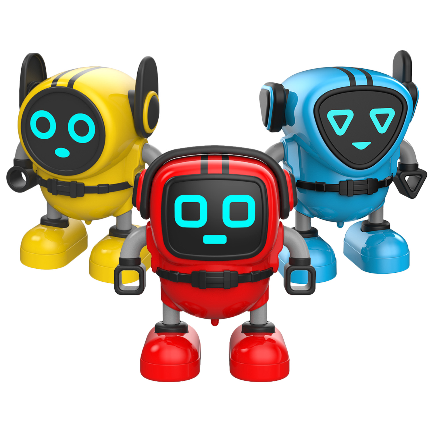 Mini Infrared RC Remote Control Robot Toy with Storage Can for Kids Children Birthday Christmas New Year Festival Gift Blue