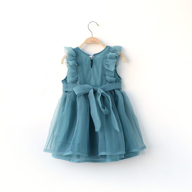 Online-Shop 2018 neue Kleinkind Mädchen Tüll Kleider Rosa/Blau/Weiß ...