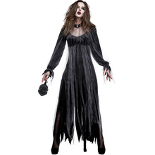 Umorden Black Horror Ghost Dead Corpse Zombie Bride Costume Long Bridal Dress Women Adult Halloween Scary Cosplay Costumes