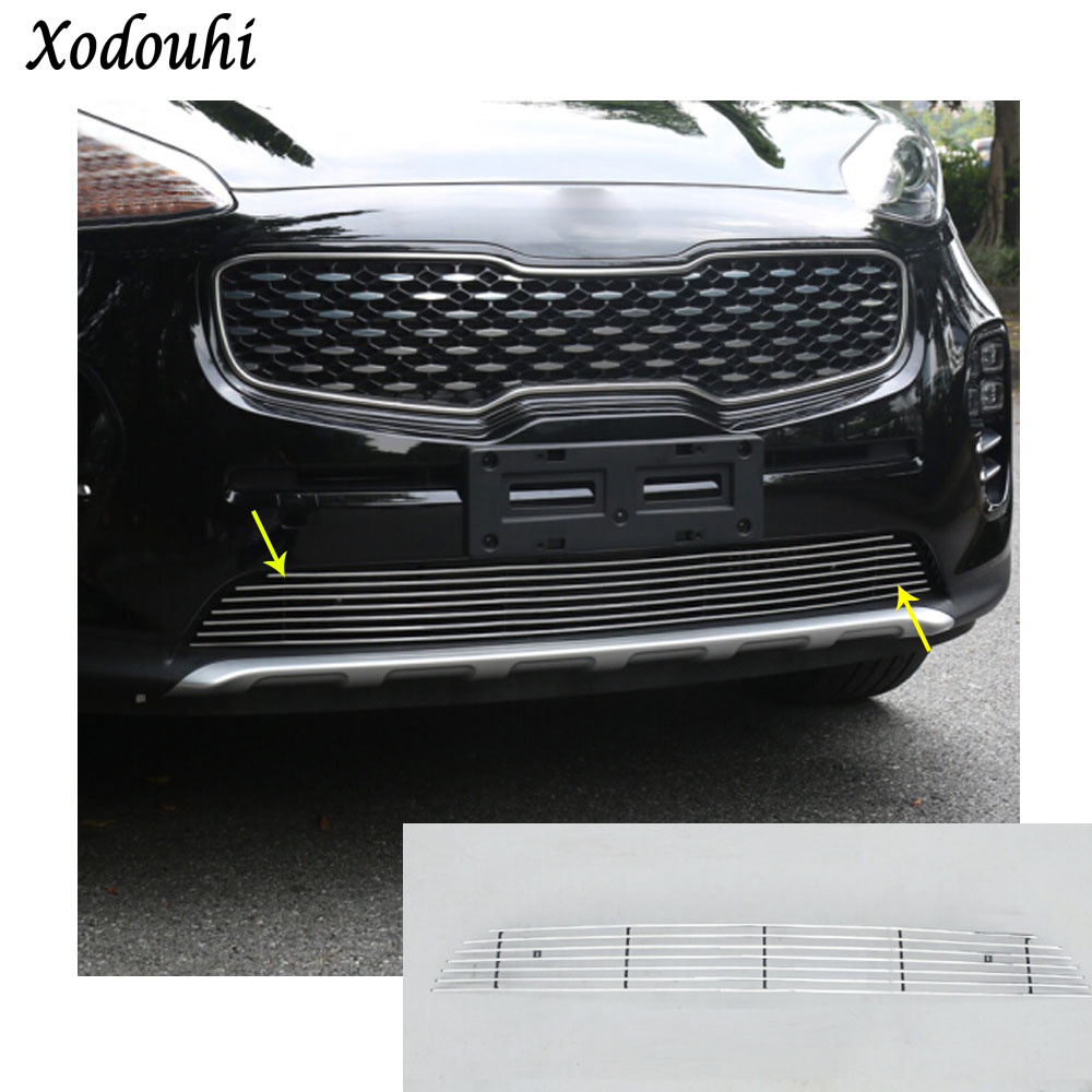 Здесь продается  car auto body protection detector stainless steel trim Front up Grid Grill Grille panel 1pcs for Kia Sportage KX5 2016 2017 2018  Автомобили и Мотоциклы