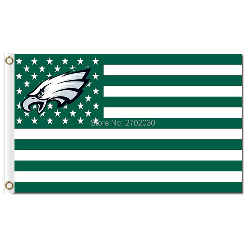 Philadelphia Eagles Flag US Banner 3ftx5ft Polyester Flag America Green Sport USA Philad ...