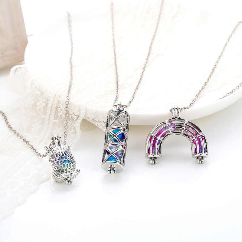 Бабочка Diy ожерелье устричная жемчужина клетка Подвеска Серебряное ожерелье красивая леди Шарм сюрприз фестиваль подарок
