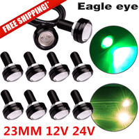 10X 23mm Eagle Eye LED DRL Lights Car Daytime Reverse Signal Bulbs 12V 9W Green