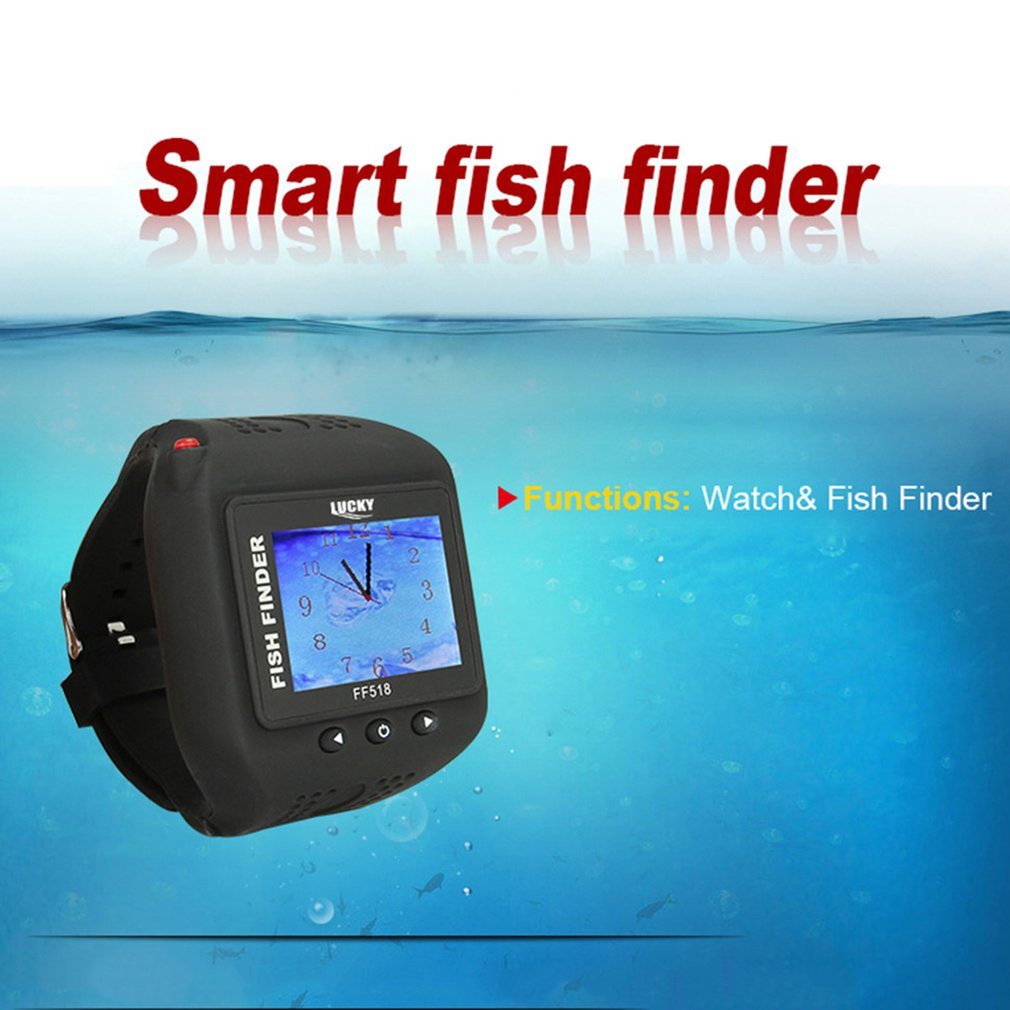 New Lucky Watch Type Smart Sonar Fish Finder Visual HD Wireless Wrist Fish finder Waterproof Sonar Detection FF518 lucky fishing sonar wireless wifi fish finder 50m130ft sea fish detect finder for ios android wi fi fish finder ff916